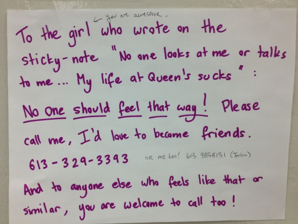 Random Act of Kindness at Queen's